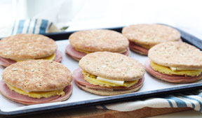 Freezer-Friendly Ham, Egg, and Cheese Sandwiches Recipe