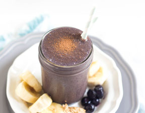 Chocolate-Blueberry Almond Butter Smoothie Recipe