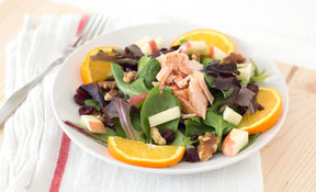Easy Salmon Salad, with Apples, Walnuts, and Orange Recipe