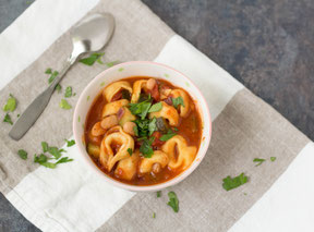 Quick Tortellini White Bean Soup Recipe