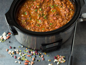 Slow Cooker Sixteen Bean and Sausage Soup Recipe