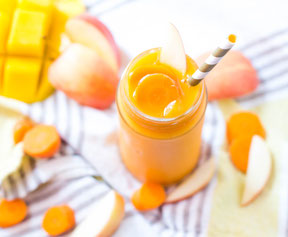 Carrot, Mango, and Ginger Smoothie
