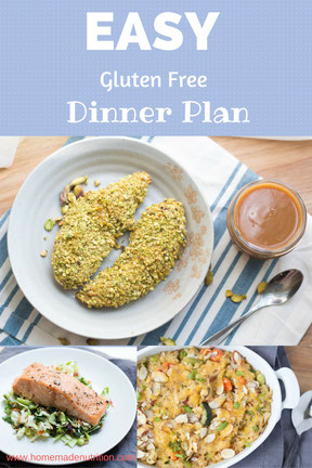 Easy Gluten Free Dinner Plan (Plus Grocery List)