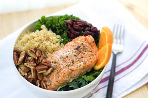 Cranberry-Orange Salmon Protein Bowl Recipe
