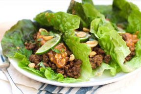 Gluten Free Asian Beef Lettuce Wraps Recipe
