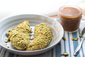 Pistachio Crusted Chicken Tenders with BBQ Honey Mustard