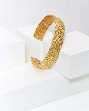 lena Grabher - Armreif aus der serie BUBBLE - 925 Silber vergoldet