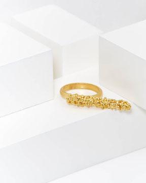 Ring 'Bubble' von Lena Grabher, 925 Silber vergoldet