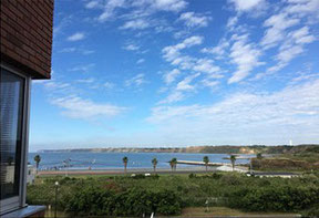 研究室からみえる銚子の空と海