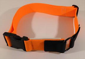 Stretchhalsband neon-orange