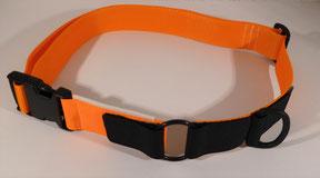 Kombi-Pferdehalsband orange/neonorange für computergesteuerte Fütterung