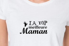 tee-shirt message maman
