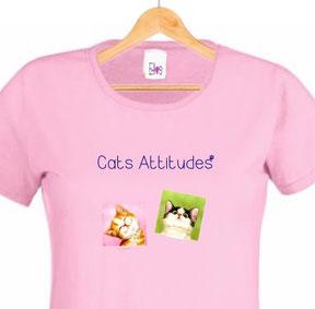 tshirt femme chats