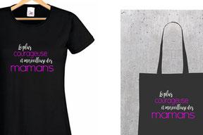 teeshirt et sac cadeau mère