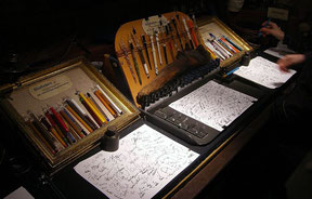 Handschrift und starke Persoenlichkeit Glasfeder-Shop