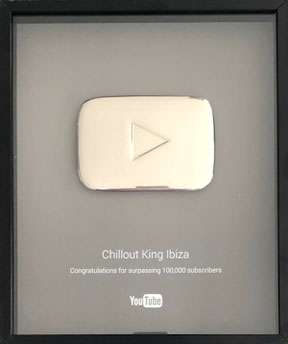 DJ Maretimo - Chillout King Ibiza - Youtube Award Play Button Silver for 100.000 subscriber