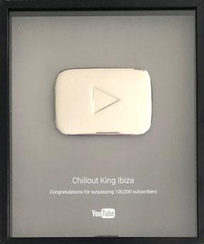 DJ Maretimo - Chillout King Ibiza - Youtube Award Play Button Silver for 100.000 subscriber