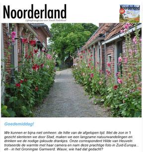 Foto in nieuwsbrief Noorderland juli 2018