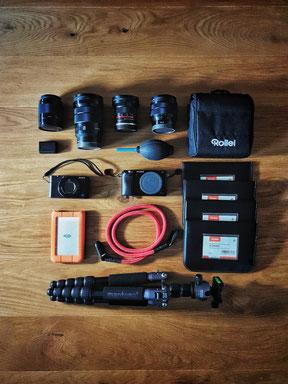 Kamera Ausrüstung mit Fotorucksack