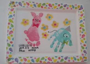 助産院での手形足形アート