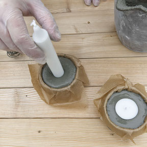 DIY Concrete Candle Holder Tutorial