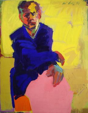 "Anton Petz, ""Stefan"" 1999, 200x160cm, Eitempera / Leinwand"