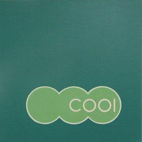 "Lucia Dellefant  ""cool"", 2001 Acryl / Nessel 50x50cm"