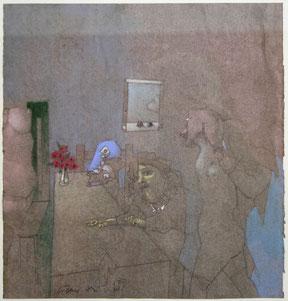 Fritz Fröhlich  o.T. - 1987 Pastellkreide auf Papier 32x34cm