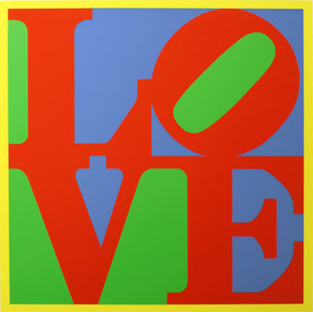 Robert INDIANA, Heliotherapy Love - 1995, Serigraph in colors on woven board, 101,5 x 101,5 cm, Ed. 155/300, Printed by Brand X Editions