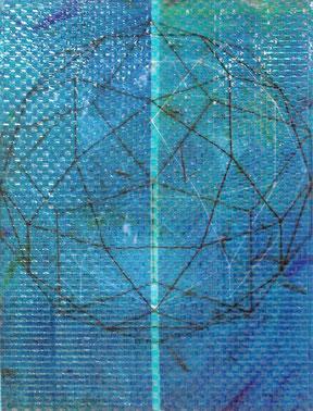 """Inge Kracht  """"Noumenon"""" - 1998 C-Print auf Folie, 2 Bilder verwoben, 145x110cm"""