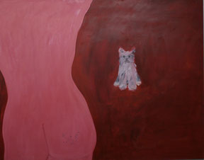 "Ronald Kodritsch  ""wuffi"", 2002, 160x180cm, Öl auf Leinwand"