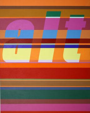 """Lucia Dellefant  """"alt"""", 2003 Acryl / Leinwand 145x115cm"""