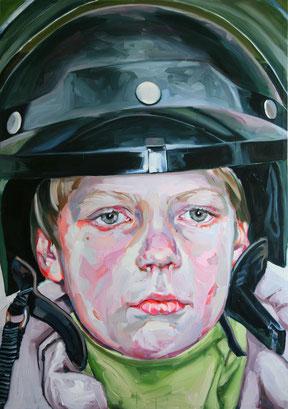 Justine OTTO, Fireman, 2006,   Öl auf Leinwand, 170x120cm