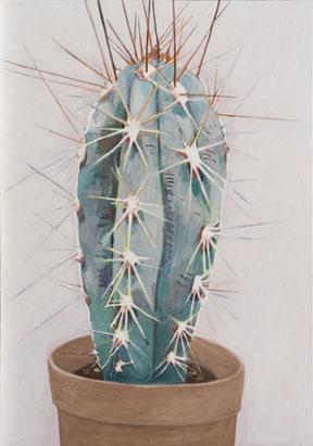 """Alois Mosbacher,  """"Kaktus"""" 2014, Öl / Leinwand, 200 x 140 cm"""