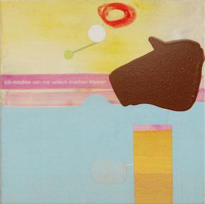 Lucia Dellefant  Ich möchte von mir.., 2003 Acryl / Nessel 50x50cm