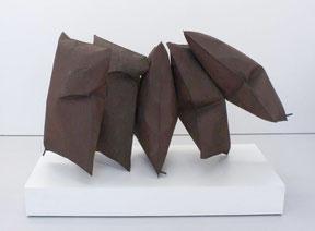 """Thomas Kühnapfel, """"Die Bürger von Calais"""", Stahl, 120 x 160 x 100 cm"""