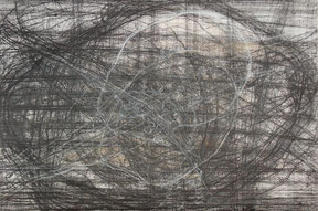 "Markus A. Huber, ""Enkidu I"", 2000, Mischtechnik / Bütten, 120x80cm,"