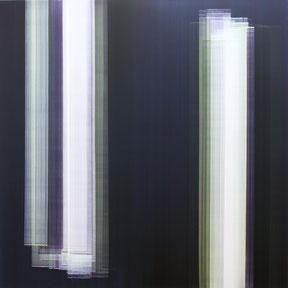 """Elisabeth Sonneck  """"Schwarzlicht 5_2"""" 140 x 140cm Öl auf Leinwand 2013"""