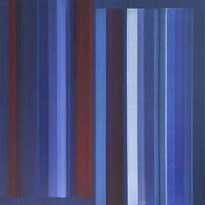 """Elisabeth Sonneck  """"Stimmlagen 7-3"""", 140 x 140cm Öl auf Leinwand"""