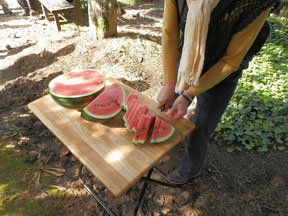 嶋津果樹園で美味しいスイカをいただきました。