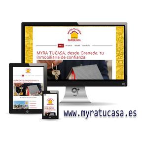 Web profesional a inmobiliaria realizada por Granada Sites