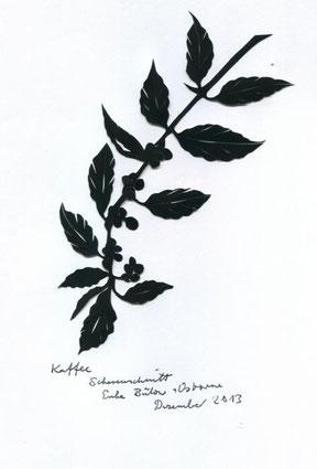 Scherenschnitt Kaffee Pflanze