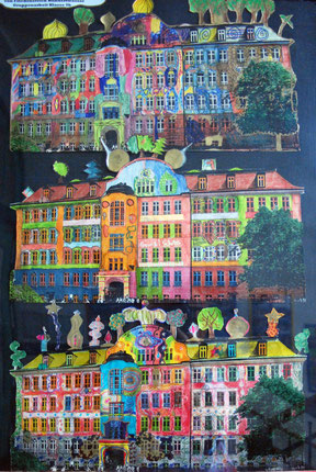 hundertwasser im kunstunterricht in der grundschule 136s. Black Bedroom Furniture Sets. Home Design Ideas