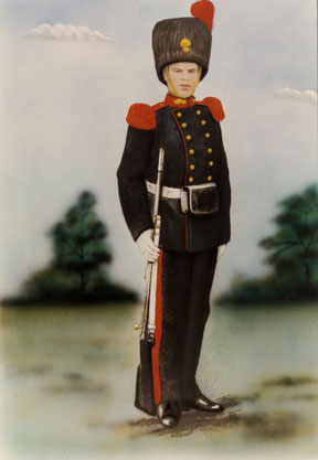 Charel Engelen als soldaat in galakostuum 1914-1918