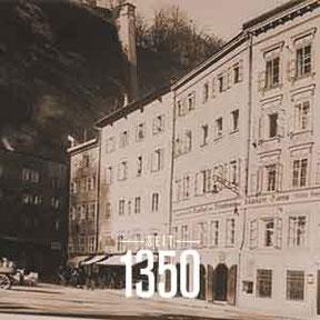Seit 1350 ist das Haus in der Getreidegasse 41-43 einn beliebter Treffpunkt. Hier die historischen Meilensteine.