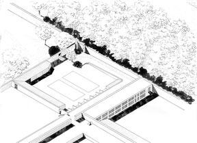 Diagnostic - Axonométrie du compost du potager du roi, Versailles