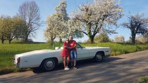 Blustfahrt im Cadillac-Cabriolet