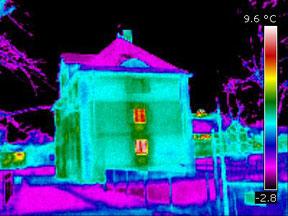 Haus Thermografie-Bild