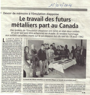 Informations dieppoises du 15/04/2014