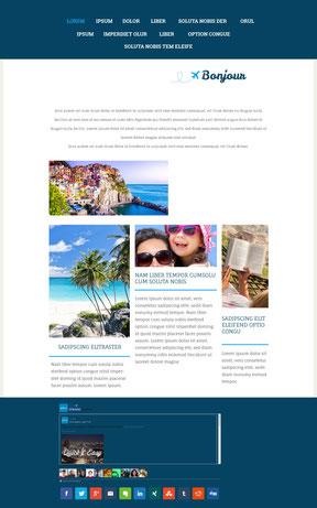 Ejemplo de sitio web con contenido no estructurado.